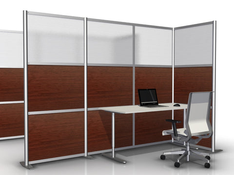 L-Shaped Office Partition, 100