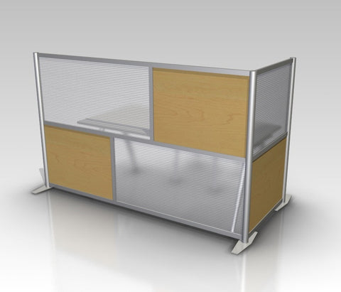 Modern Office Partition L-Shaped 84