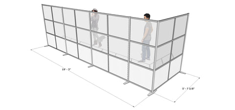 L-Shaped Office Partition, 231
