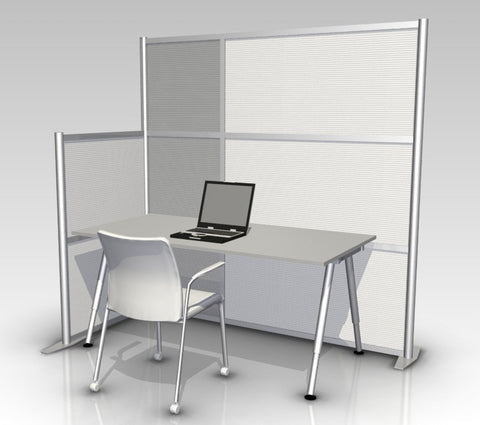 L-Shaped office partition