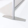 Support base detail for sneeze guard counter top  & table top divider partitions