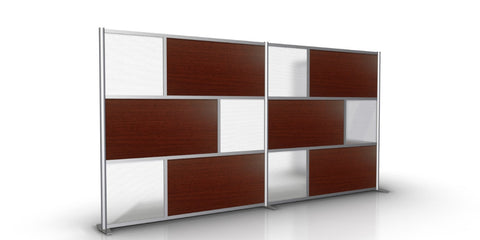 148 inch wide by 75 inch tall model # SW14875-3S-HTW-3L-CHER, Cherry & Translucent Panels