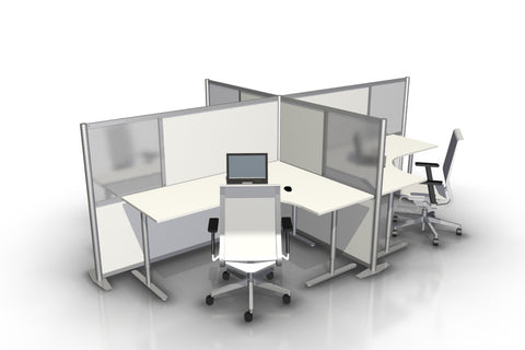 T-Shaped office desk divider partitions