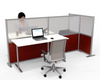 T-Shaped Office Desk Divider - 100