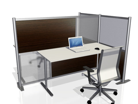 T-Shaped Office Partition