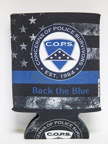 Back the Blue Koozie - 1338 Gifts COPS SHOP