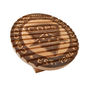 C.O.P.S. Custom Logo Coin Display Gifts Wood Simply Made