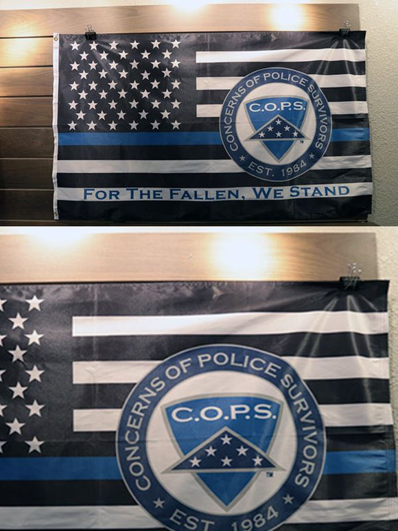 Blue Line 3x5 Flag - 1350 Gifts COPS SHOP