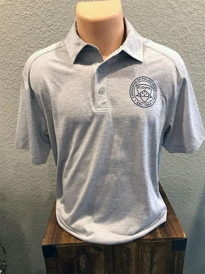 Light Grey Digi Heather Polo Men COPS SHOP Small
