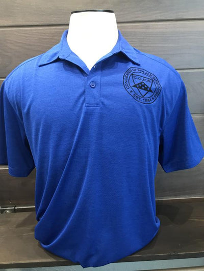 Royal Digi Heather Polo Men COPS SHOP Small