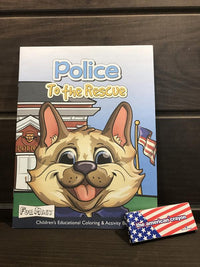 Police Coloring Book Gifts COPS SHOP