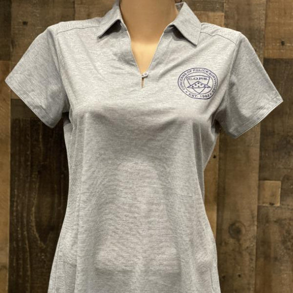 Light Gray Digi Heather Polo Women COPS SHOP