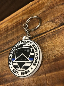 Logo Flag Keychain Gifts COPS SHOP