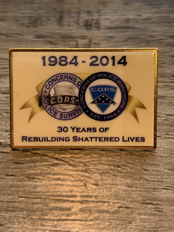 30th Anniv. Lapel Pin Gifts COPS SHOP