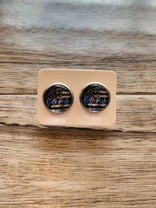 COPS Earrings Gifts Radiant Rose Gifts Etsy
