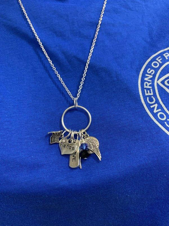 Fiance Charm Necklace Gifts COPS SHOP
