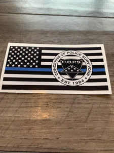Blue Line Decal Gifts COPS SHOP