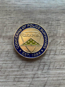 Folded Flag Coin Gifts Thin Blue Line USA