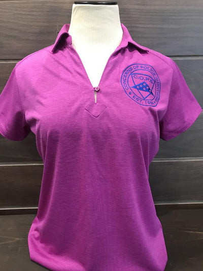 Pink Digi Heather Polo Women COPS SHOP Small