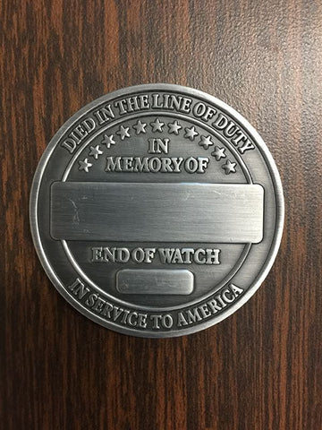 Engraved Survivor Coin Gifts COPS SHOP