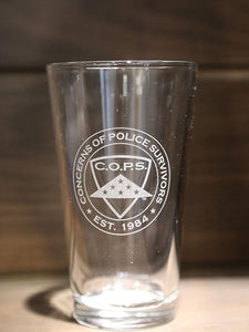 Etched Logo Pint Glass Gifts COPS SHOP