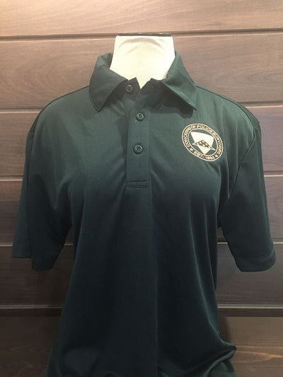 Green Polo Shirt Men COPS SHOP Small
