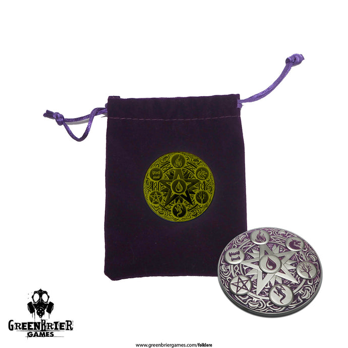 FL34 - Folklore 2E Talisman of Kremel (Metal coin & Dice Bag)