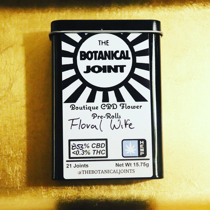 Floral Wife CBD Hemp Cigarettes - 8.56% CBD, 2.46% Total Terpenes, Cinnamon, Floral, Orange, Indica, Rest, Greenhouse Grown