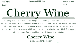 Cherry Wine Feminized Hemp Pollen