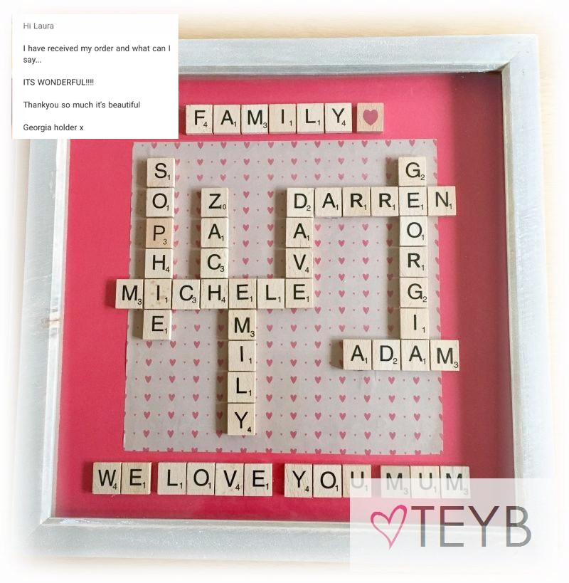 personalised scrabble picture