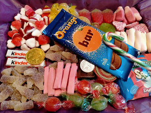1kg, 2kg Easter Sweets Box, Terry's Chocolate Orange, Personalised Retro Pick n Mix Sweets Box, Birthday Gift