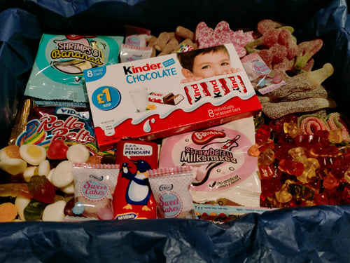 1kg, 2kg Easter Sweets Box, Kinder Chocolate, Retro Pick n Mix Sweets Box, Birthday Gift, Lockdown Gift