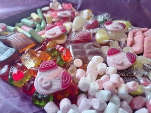 1kg, 2kg Easter Percy Pig Sweets Box, Retro Pick n Mix, Personalised Sweets Box, Birthday Gift, Lockdown Gift