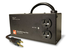 Brick Wall Two-Outlet Audio Surge Protector for Home Theater