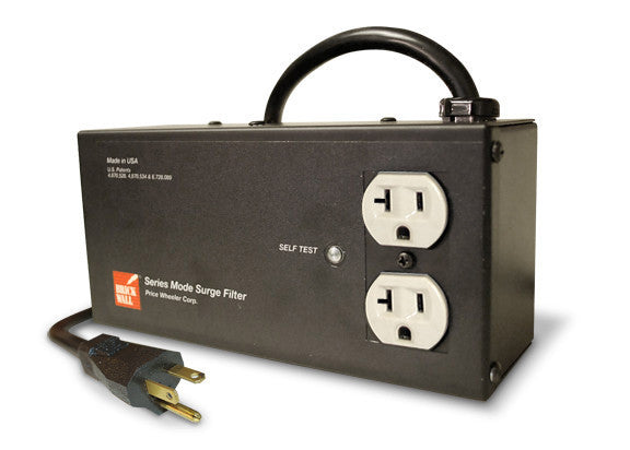 20 Amp Two Outlet Surge Protector Brick Wall