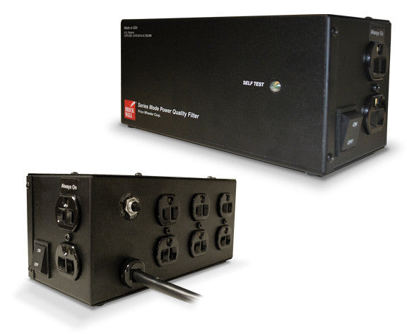Eight Outlet Audio Surge Protector Brick Wall