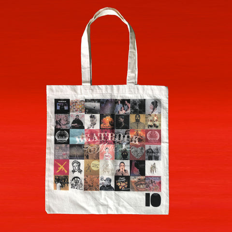 Beatrock Music 10 Year Anniversary Canvas Record Tote Bag