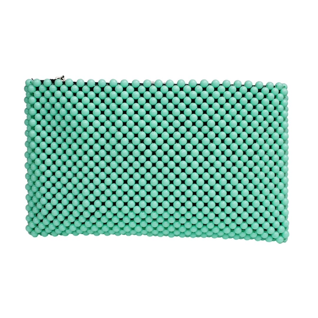 Acrylic Bead Clutch - Mint