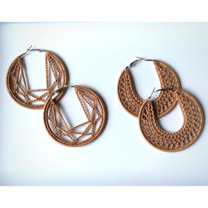 Thread earrings - Tan