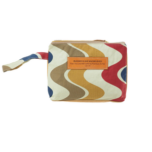 Leather Wristlet Clutch - Blessed is she who believes