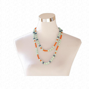 Recycled Paper Bead Necklace - Abie Necklace