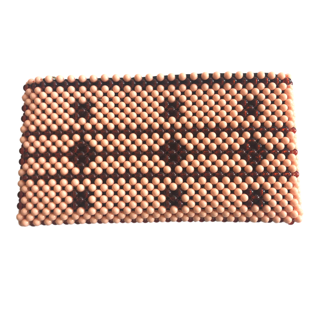 Acrylic Bead Clutch - Shades of Brown