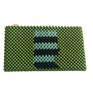 Acrylic Bead Clutch - Green & Black