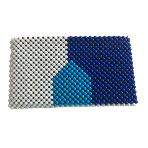 Acrylic Bead Clutch - Shades of Blue & White