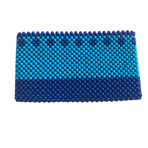 Acrylic Bead Clutch - Shades of Blue