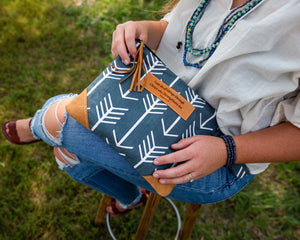 Leather Wristlet Clutch - I can do all things