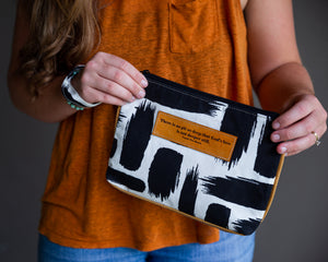 Leather Wristlet Clutch - Corrie T Boom