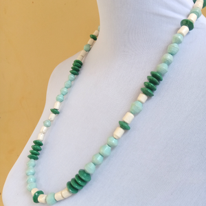 Recycled Paper Bead Necklace - Anchor Necklace