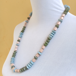 Recycled Paper Bead Necklace - Glamour Necklace