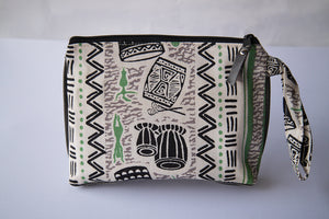 Leather Wristlet Clutch - Strength and Song